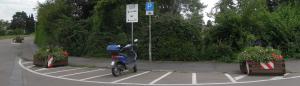 Motorradparkplatz am Kloster Lorsch