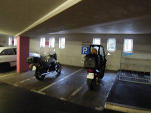 Motorradparkplätze im Hattinger Altstadtparkhaus
