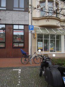 Motorradparkplatz Castrop Marktplatz