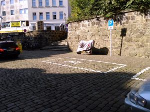 Motorradparkplätze Minden - Marienstrasse