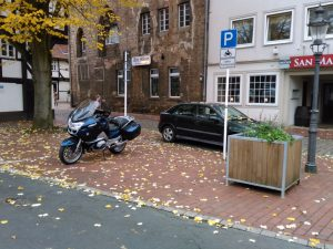 Motorradparkplätze Minden - Martinikirchhof
