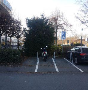 Motorradparkplätze Oberhausen - Bero Zentrum