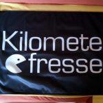 Kilometerfresser-Flagge 90 x 60 cm schwarz