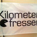 Kilometerfresser-Flagge 90 x 60 cm weiss